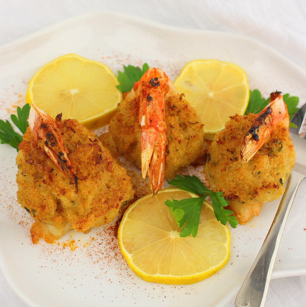 Baked Stuffed Shrimp with Clams, Whats Cooking America  Fried Shrimp Stuffed With Crab Dressing