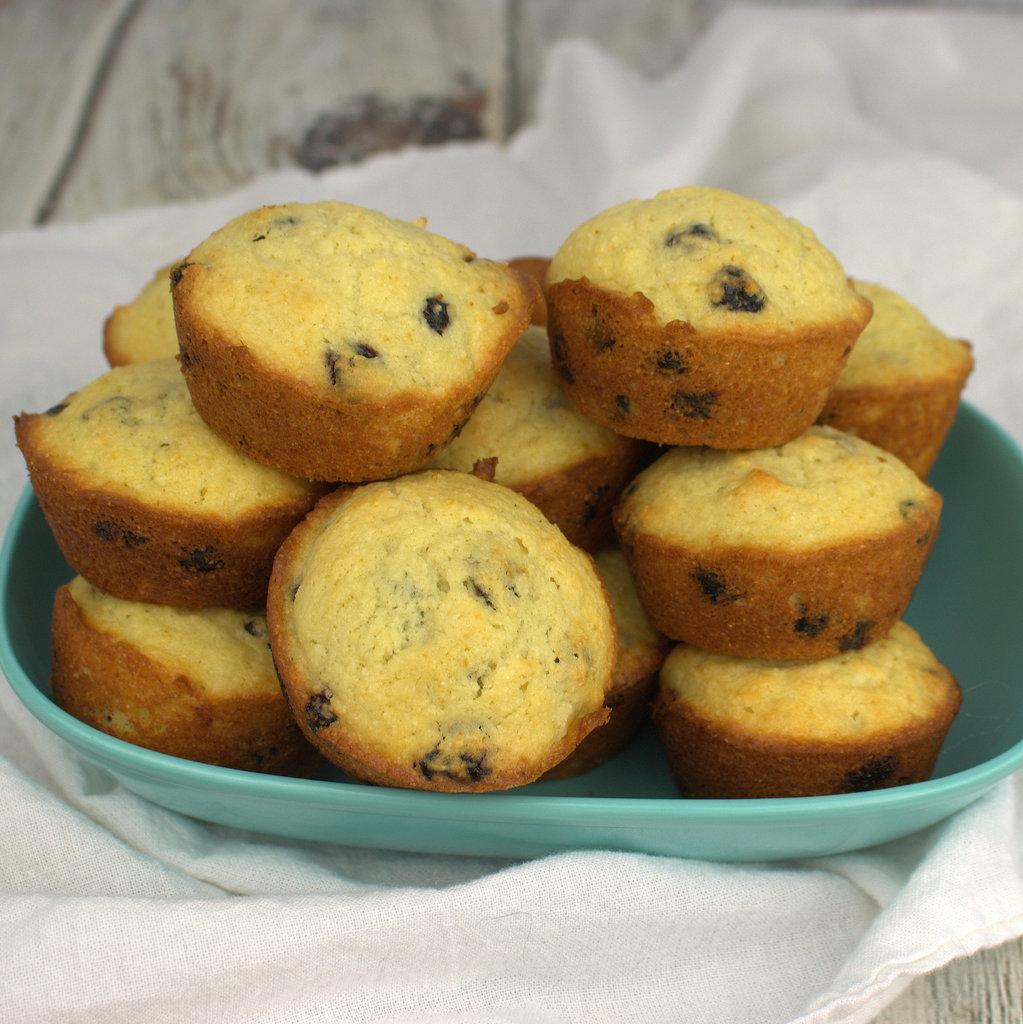 Blueberry Corn Muffins #MuffinMonday