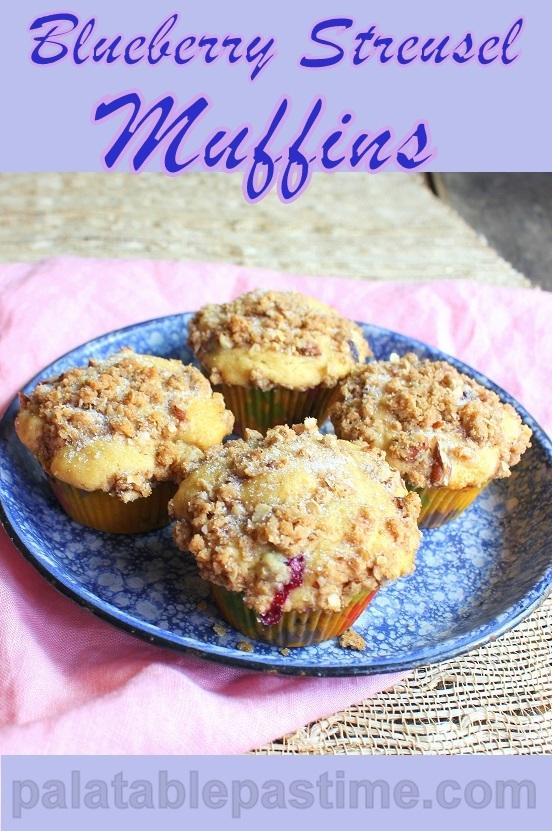 Blueberry Streusel Muffins #MuffinMonday