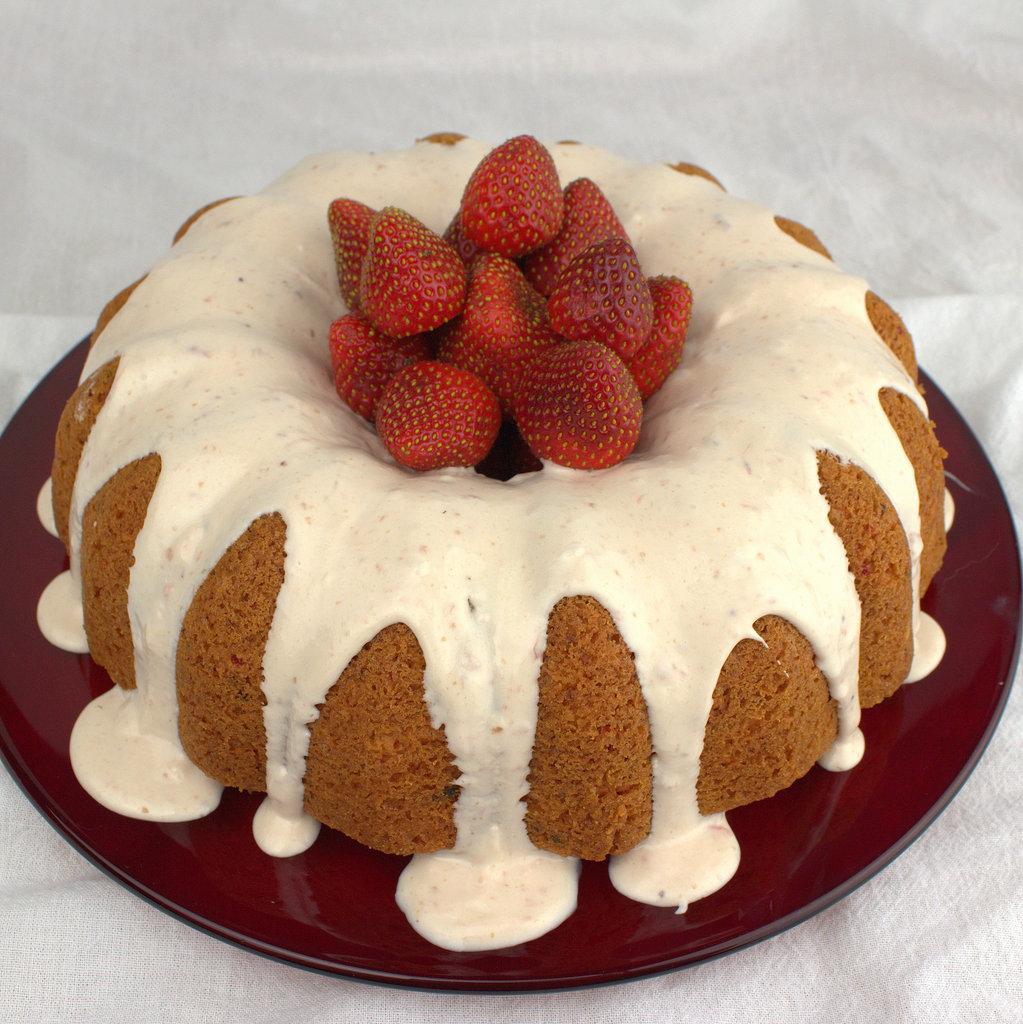 Strawberries And Cream Bundt Cake #BundtBakers