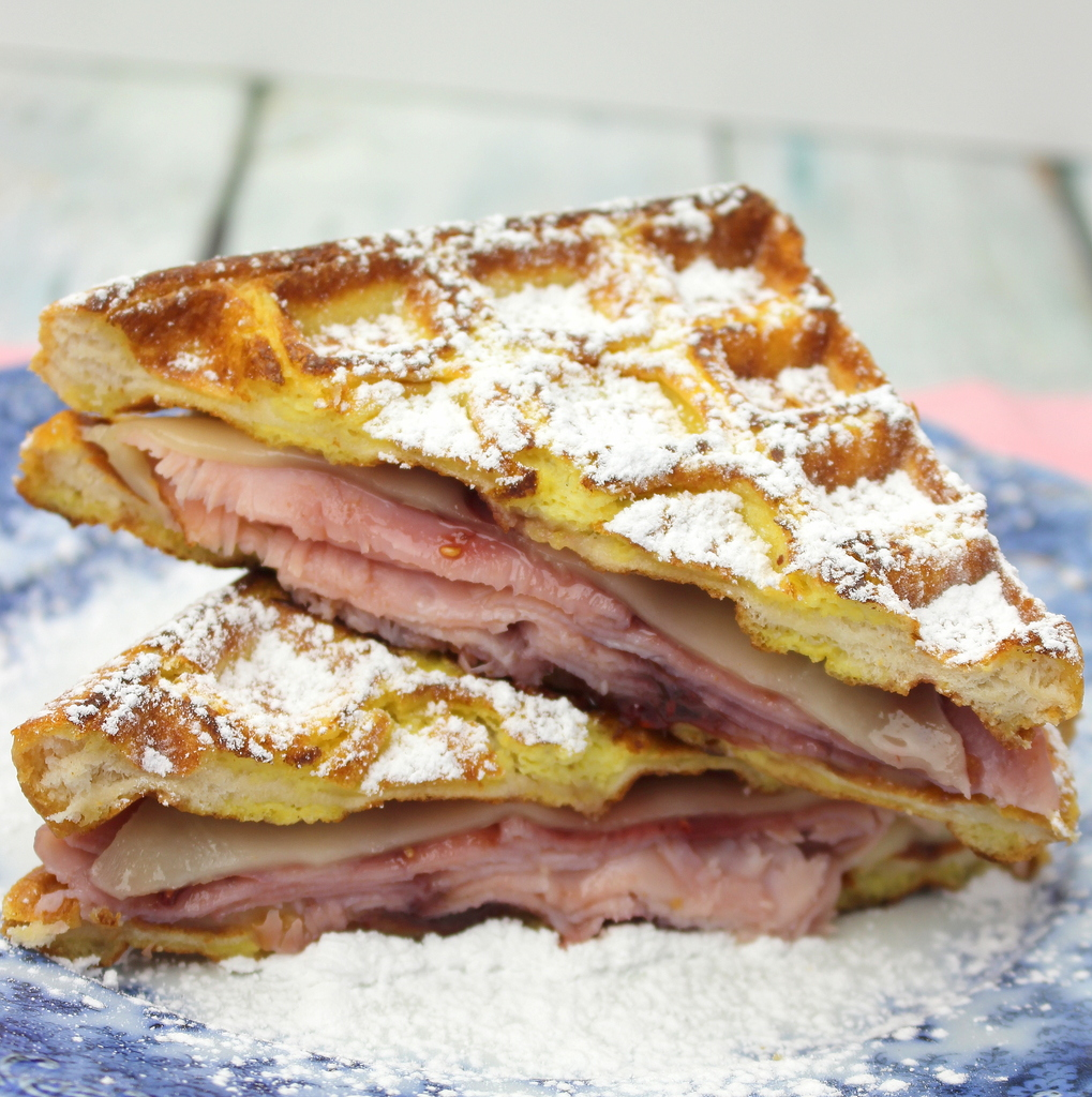 Monte Cristo Waffle Sandwich #SundaySupper