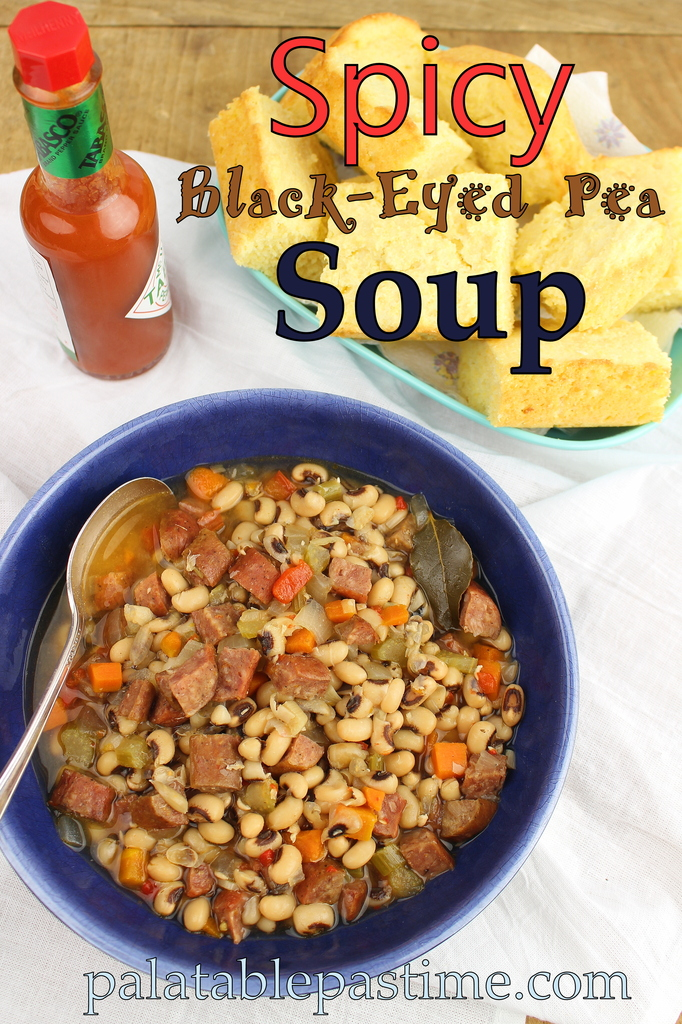 Spicy Black Eyed Pea Soup