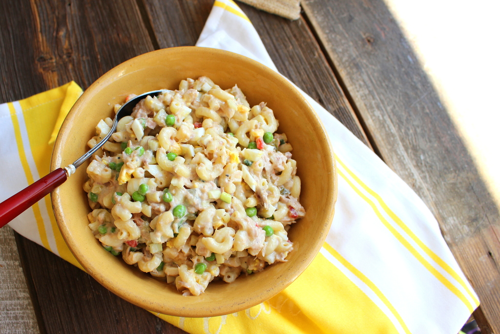 Tuna pasta salad for Macaroni salad with tuna fish