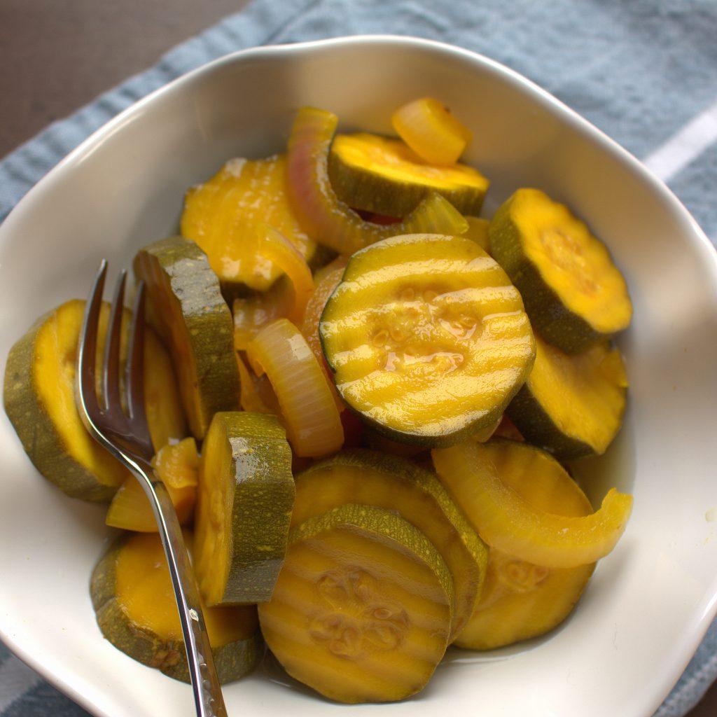 sugarfree bread and butter zucchini pickles