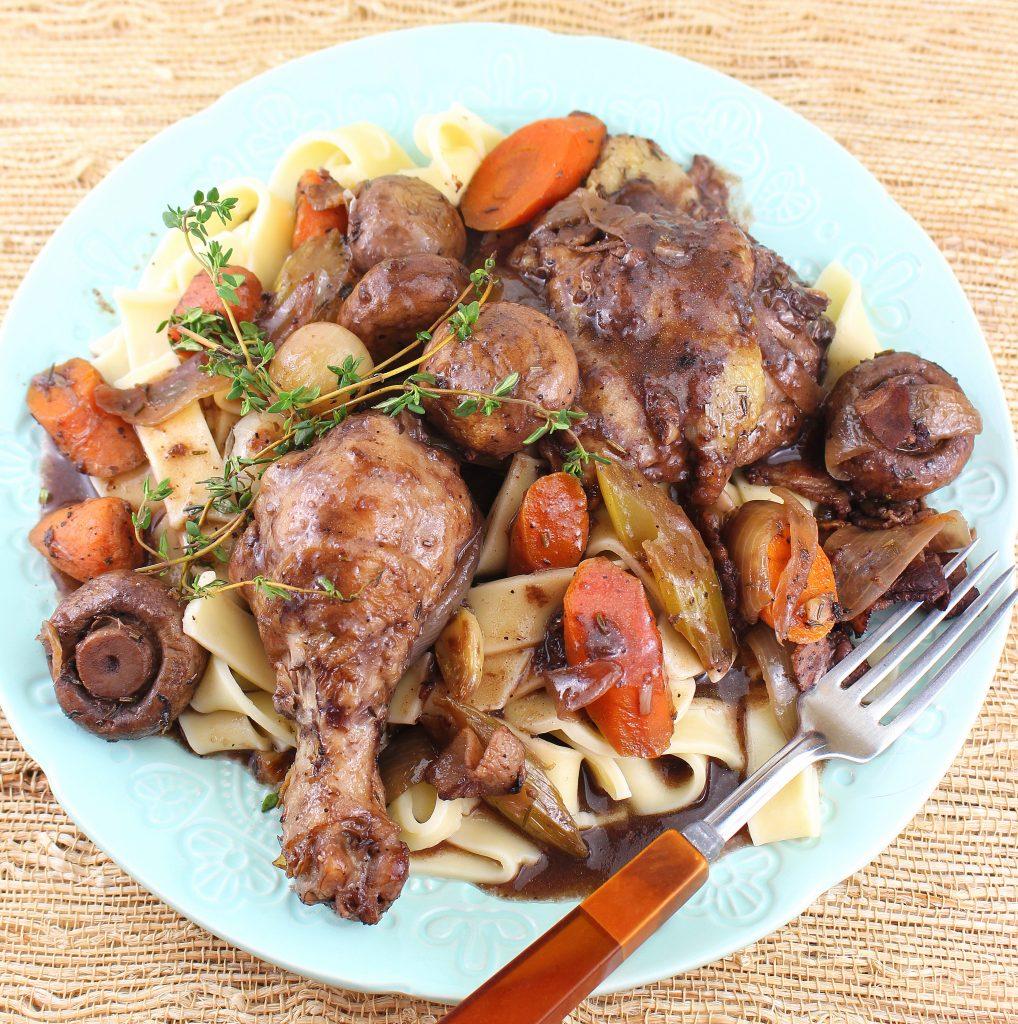 Coq Au Vin (French Braised Chicken With Wine